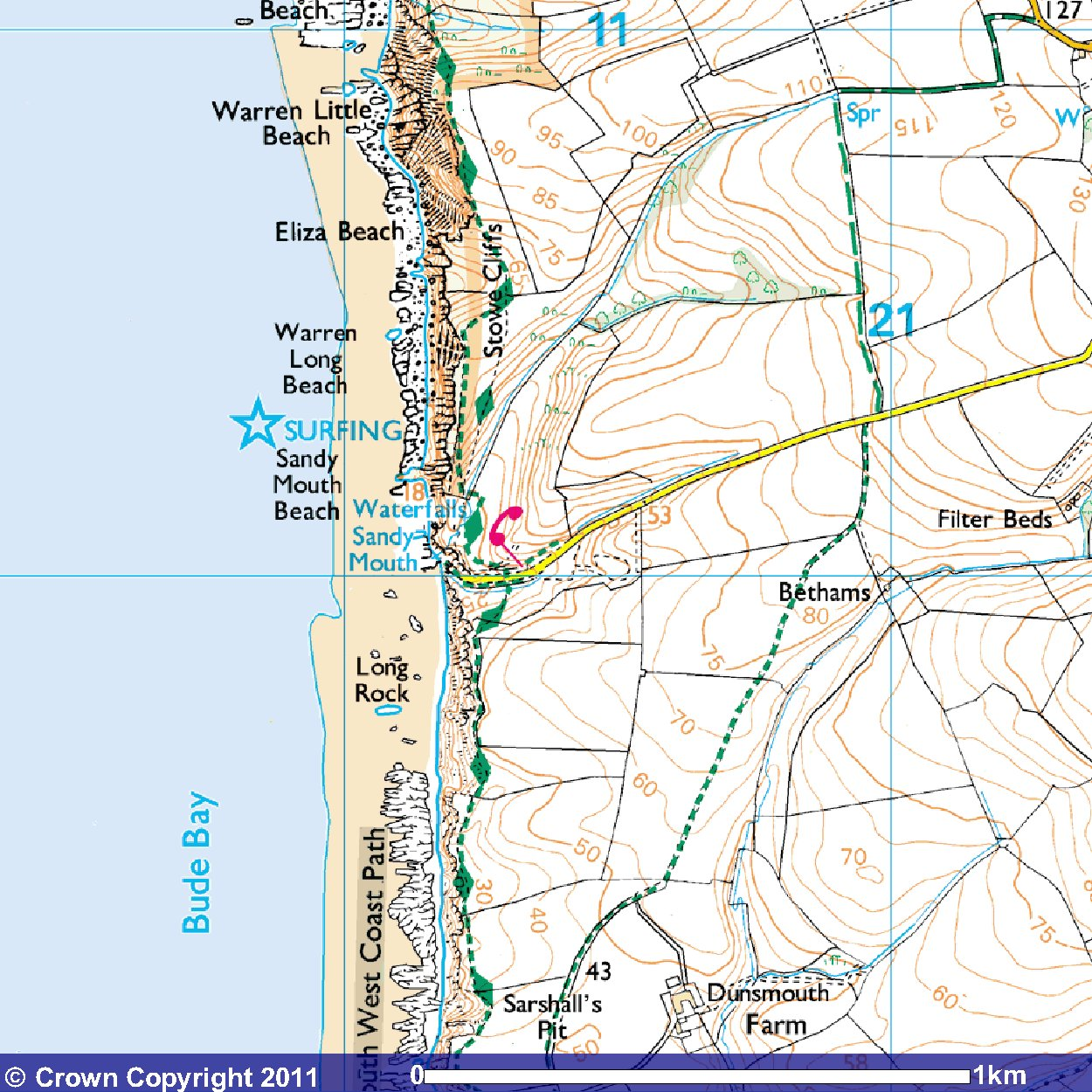 Map Of Ireland Beaches.Visiting Cornwall Beach Guide For Sandy Mouth