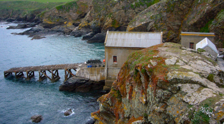 The third Lizard Lifeboat Station at Polpeor Cove
