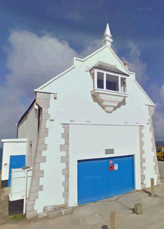The original Newquay Lifeboat House on Towan Head