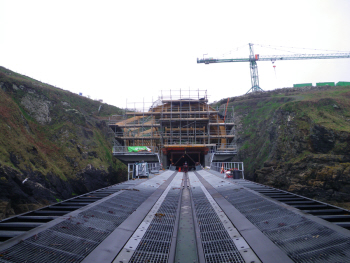 The new Lizard Lifeboat Station under construction - April 2011