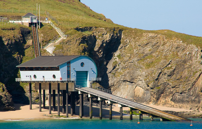 Padstow Lifeboat Station at Trevose Head. Built in 2006