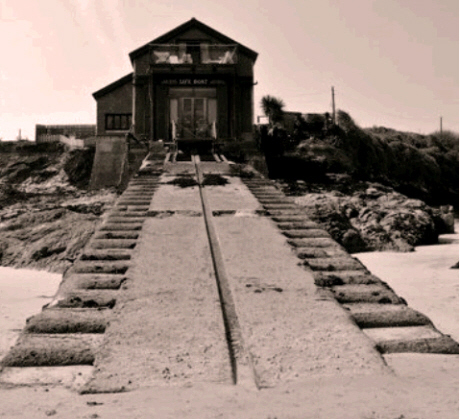 The original Padstow Lifeboat Station at Hawkers Cove