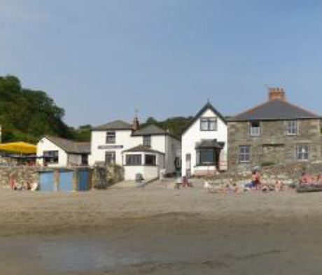 Polkerris - the old lifeboat house is the right hand white building