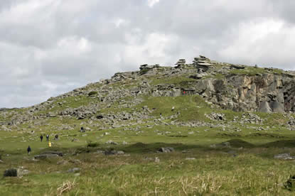 Brown Willy, the highest point in Cornwall